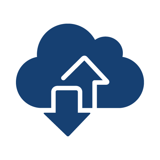 Cloud Transfer Data Rates Icon
